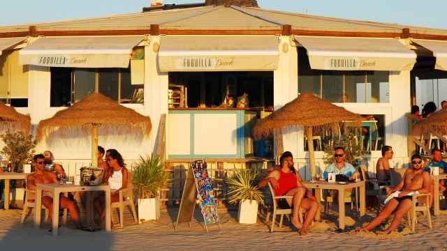 Chiringuito de playa en Conil de la Frontera.
