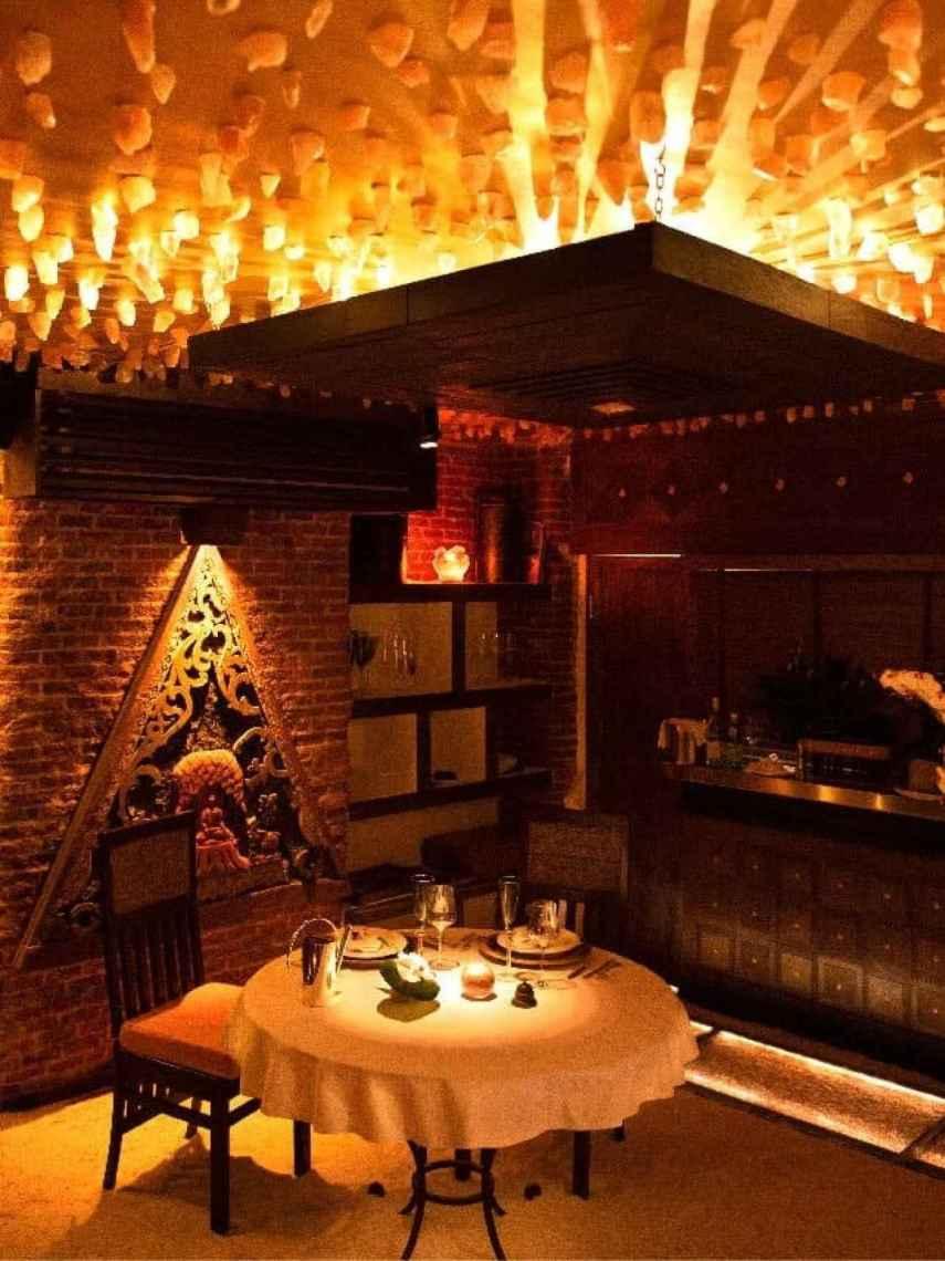 Diamantes de Sal Rosa, la única mesa del restaurante más exclusivo de Madrid