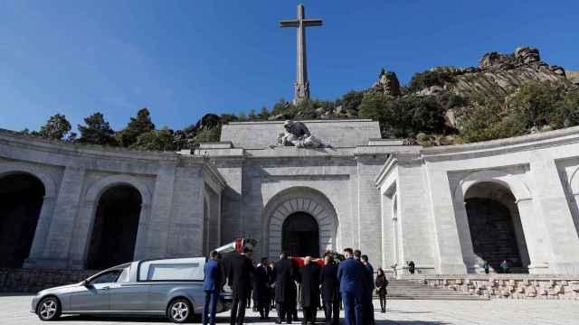 El Valle de los Caídos durante la exhumación de Francisco Franco el 24 de octubre de 2019.