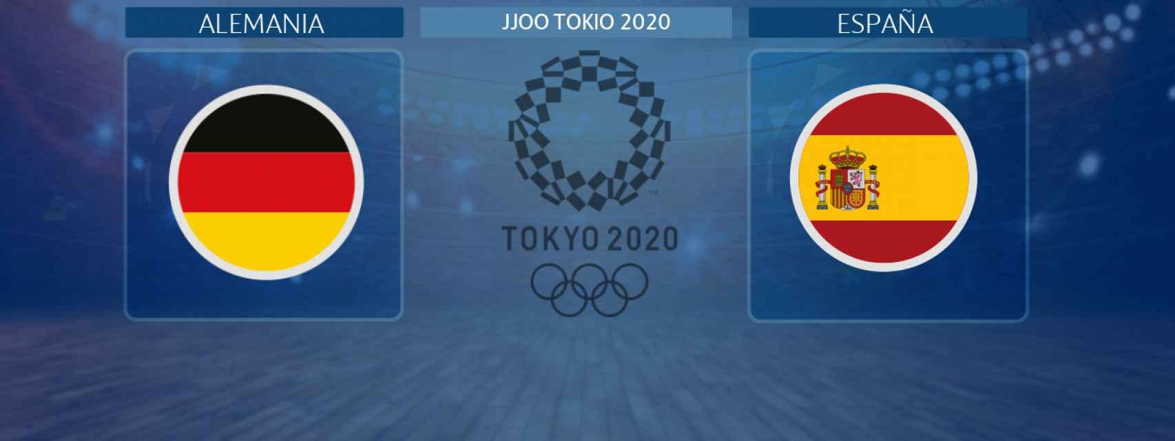 Alemania - España, partido de balonmano masculino de los JJOO Tokio 2020