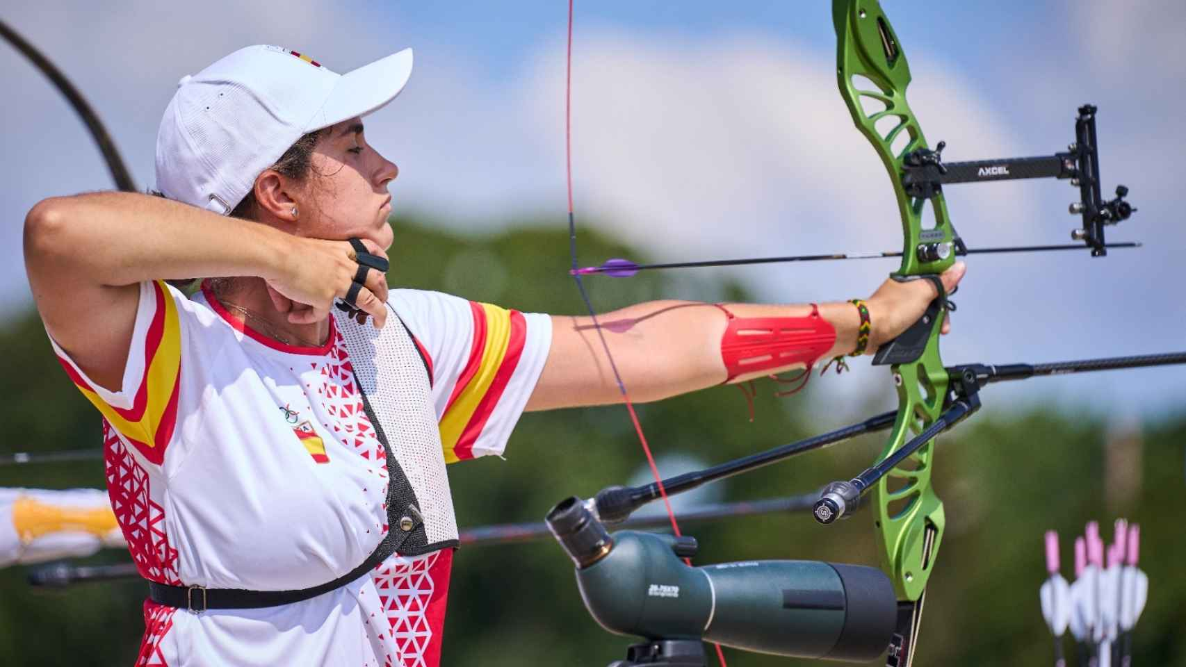 Inés de Velasco en los Juegos Olímpicos de Tokio 2020 en tiro con arco