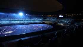 El Estadio Olímpico de Tokio durante la Ceremonia de Apertura de los JJOO de Tokio