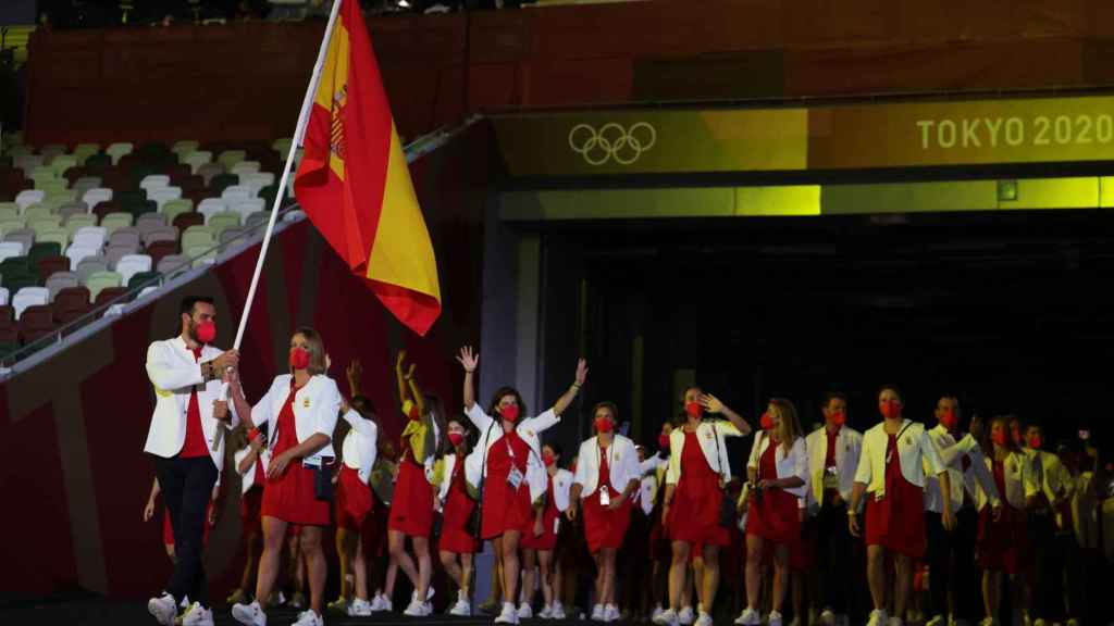 La delegación española desfilando en la Ceremonia de Apertura de los JJOO de Tokio 2020