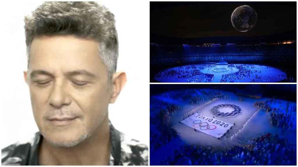 Alejandro Sanz participa en la ceremonia de inauguración de los JJOO de Tokio