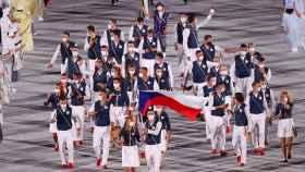 El equipo olímpico de República Checa en la ceremonia de inauguración