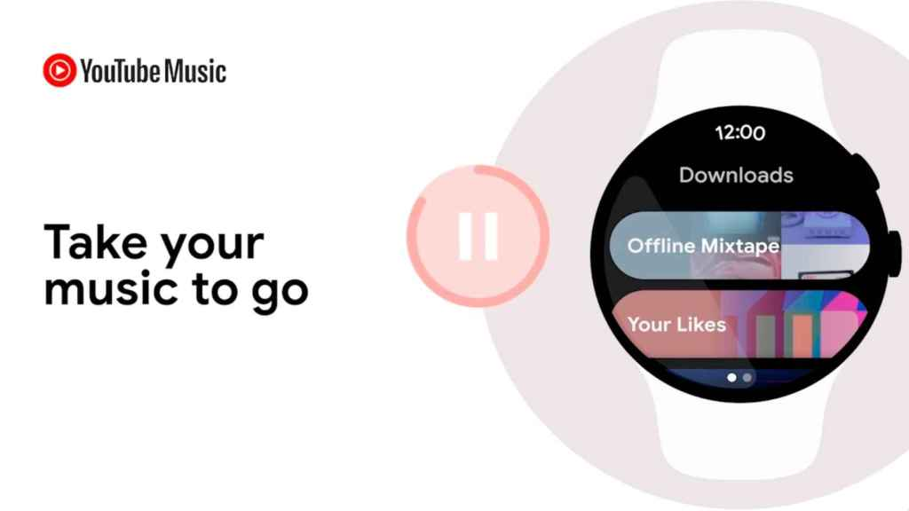 Wear OS 3 smartwatch YouTube Music