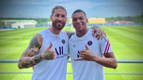 Sergio Ramos y Mbappé