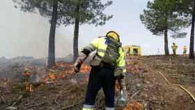 Huelga de los bomberos forestales en Castilla-La Mancha
