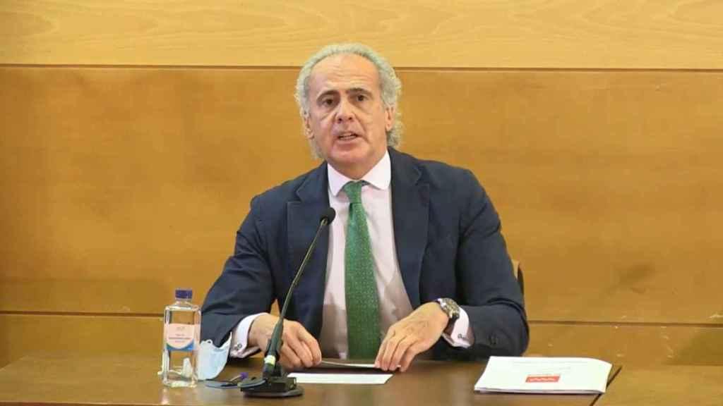 Enrique Ruiz Escudero en rueda de prensa.
