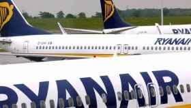 Aviones de Ryanair./