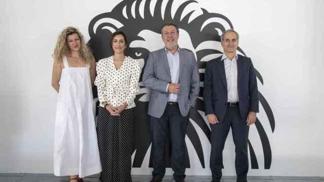 Sandra Figaredo (ManpowerGroup), Lucia Velasco (ONTSI), Angel Urquiza (Santa Lucía) y Alberto Oro (Digital Skills School y Universidad Camilo José Cela)