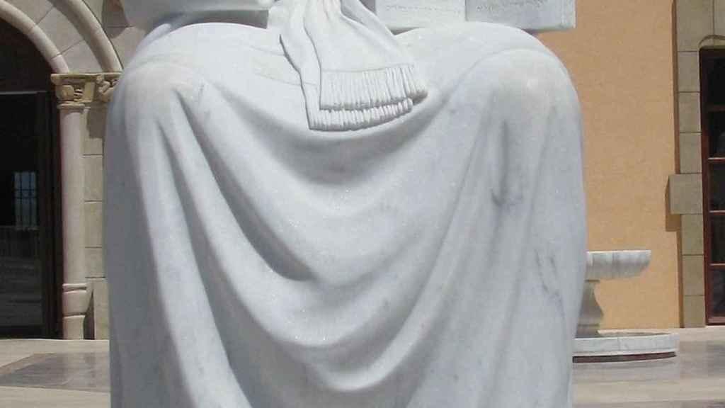 Una imagen de la estatua que hay del malagueño en Israel.