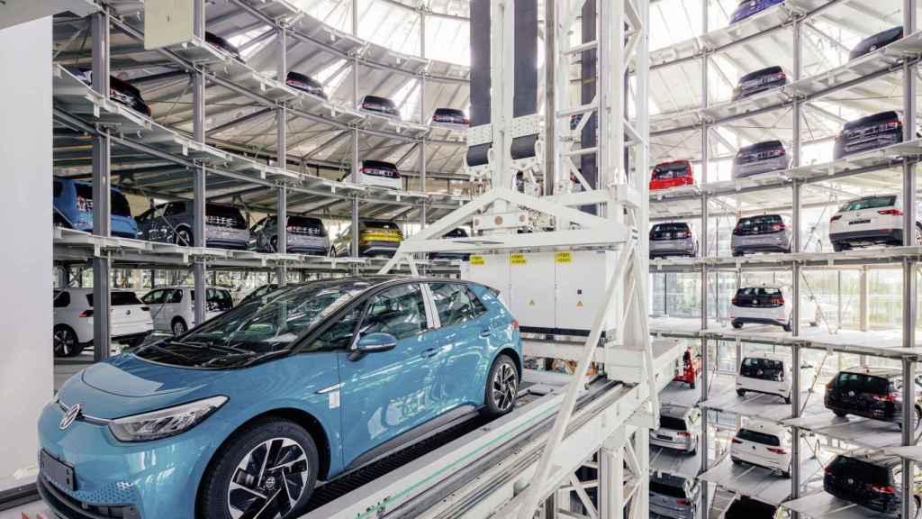 Imagen de la fábrica de cristal de Volkswagen.