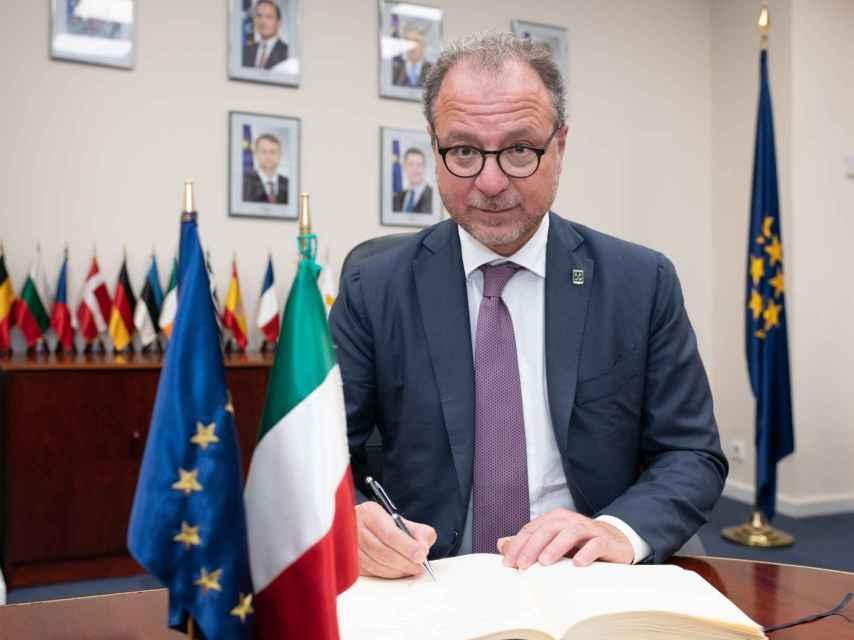 Giorgio Mulè, el viceministro de Defensa italiano.