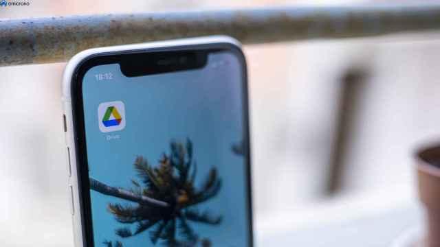 Google Drive en un iPhone.