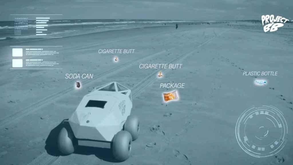 BeachBot puede detectar las colillas de cigarrillos en la arena, incluso si están enterradas parcialmente.