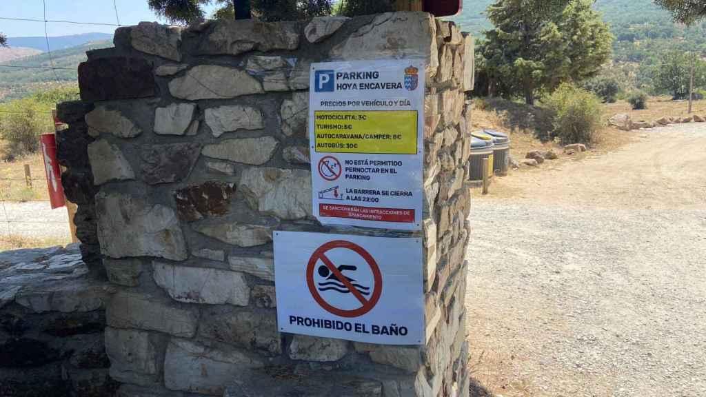 Prohibido el baño en Hoya Encavera
