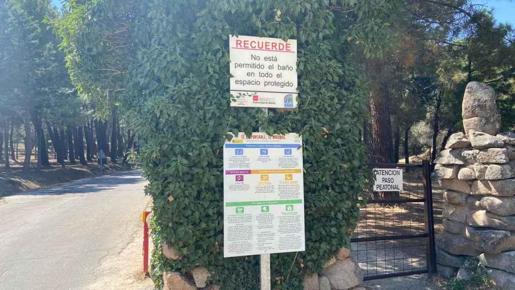 Baño prohibido en La Pedriza también