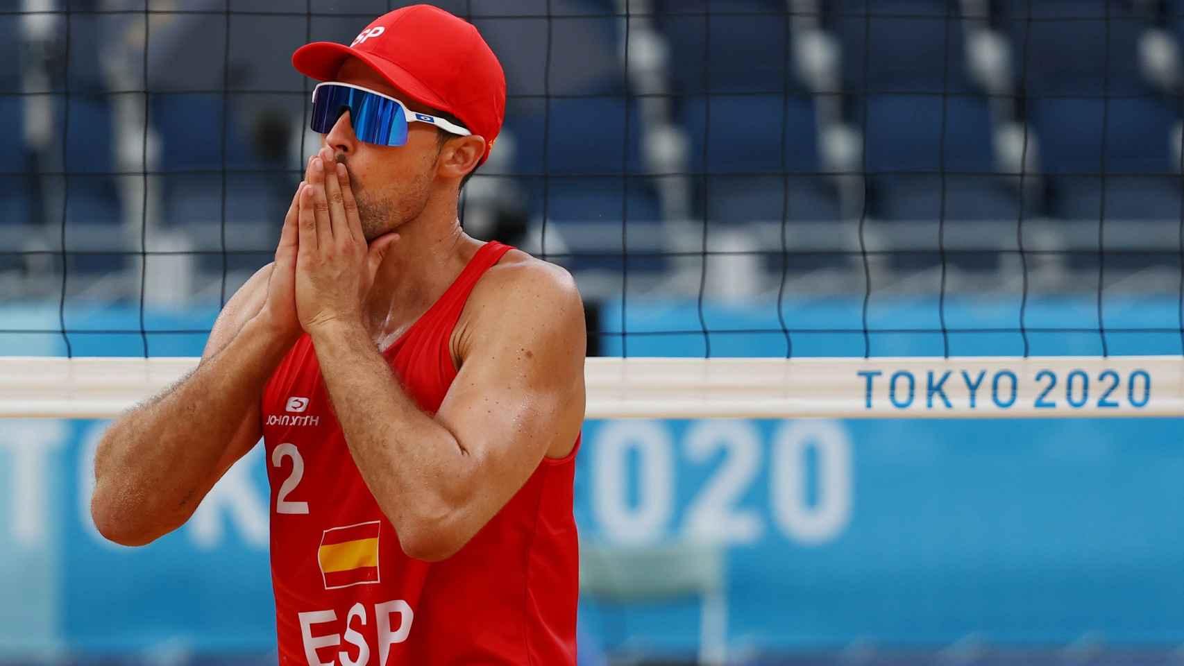 Adrián Gavira, durante los Juegos Olímpicos