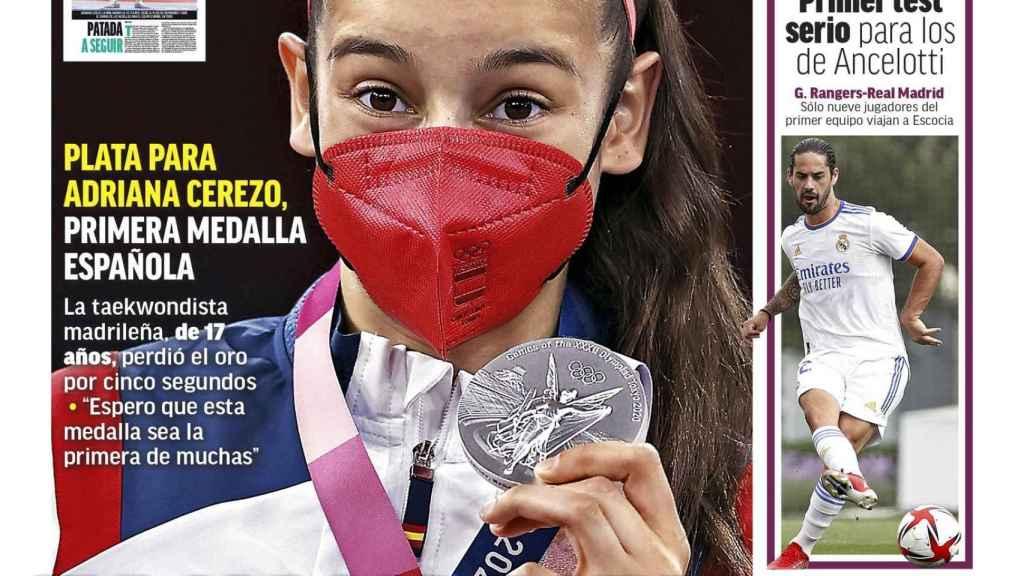 La portada del diario MARCA (25/07/2021)