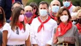 Carmen Calvo y Luis Tudanca en la Fiesta de la Rosa del PSOE de León 3