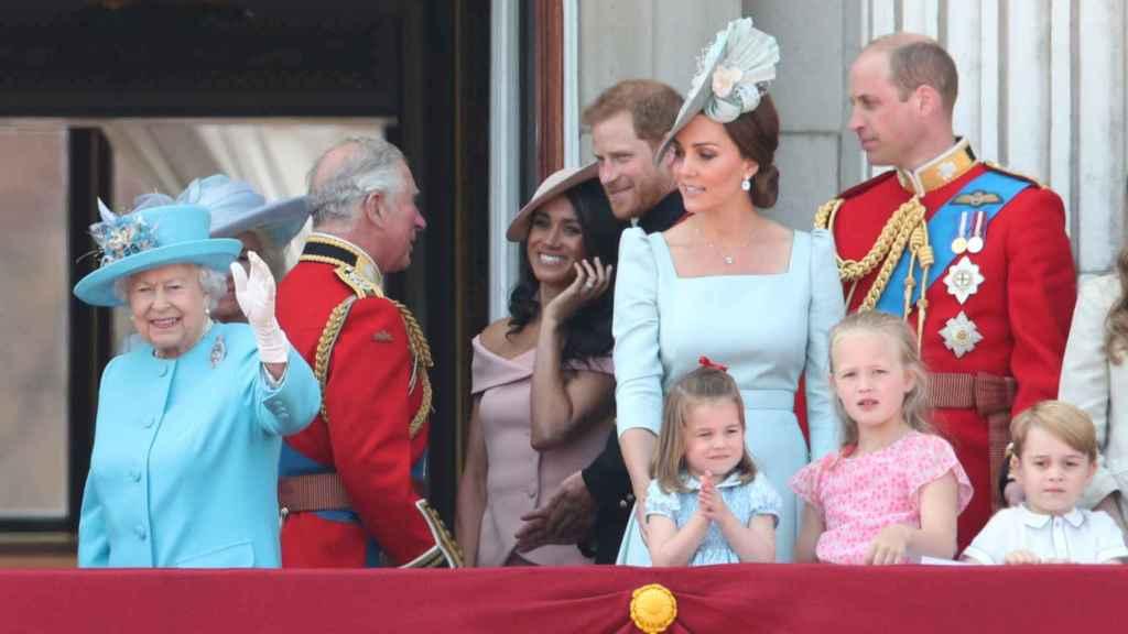 La Familia Real británica en el Trooping the Colour 2018.