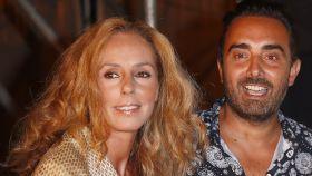 Rocío Carrasco y Fidel Albiac, durante una celebración en Madrid.