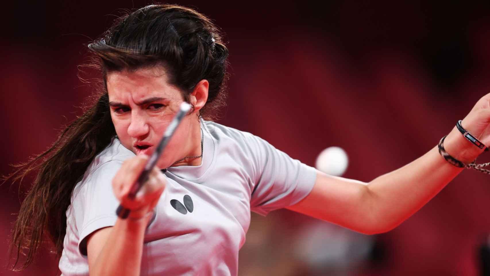 Hend Zaza, la jugadora de tenis de mesa de tan solo 12 años