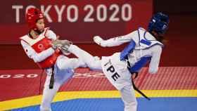 SU Po-Ya en su pelea contra Yamada