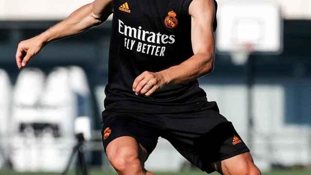 Luka Modric, en un entrenamiento del Real Madrid