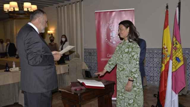 Pilar Zamora en el acto de toma de posesión del cargo.