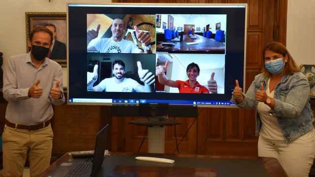 Reunión telemática con los deportistas olímpicos talaveranos.