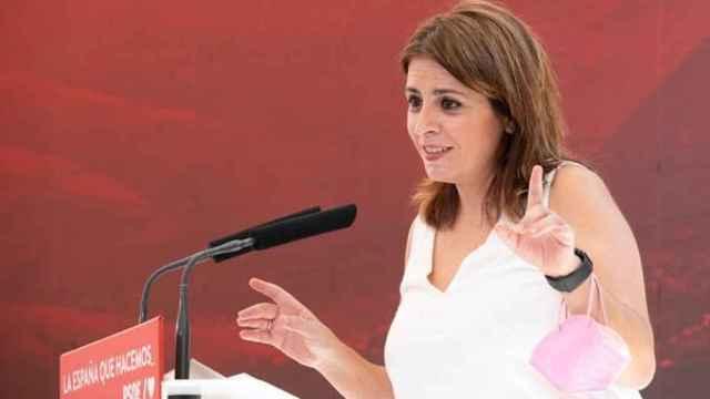 Adriana Lastra interviene este sábado en la presentación de la Ponencia Marco del 40 Congreso PSOE que se celebrará en Valencia en octubre.