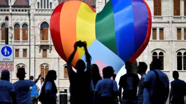 Un momento del Budapest Pride.