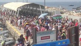 Imagen de la dársena del puerto de Tabarca este sábado por la tarde.