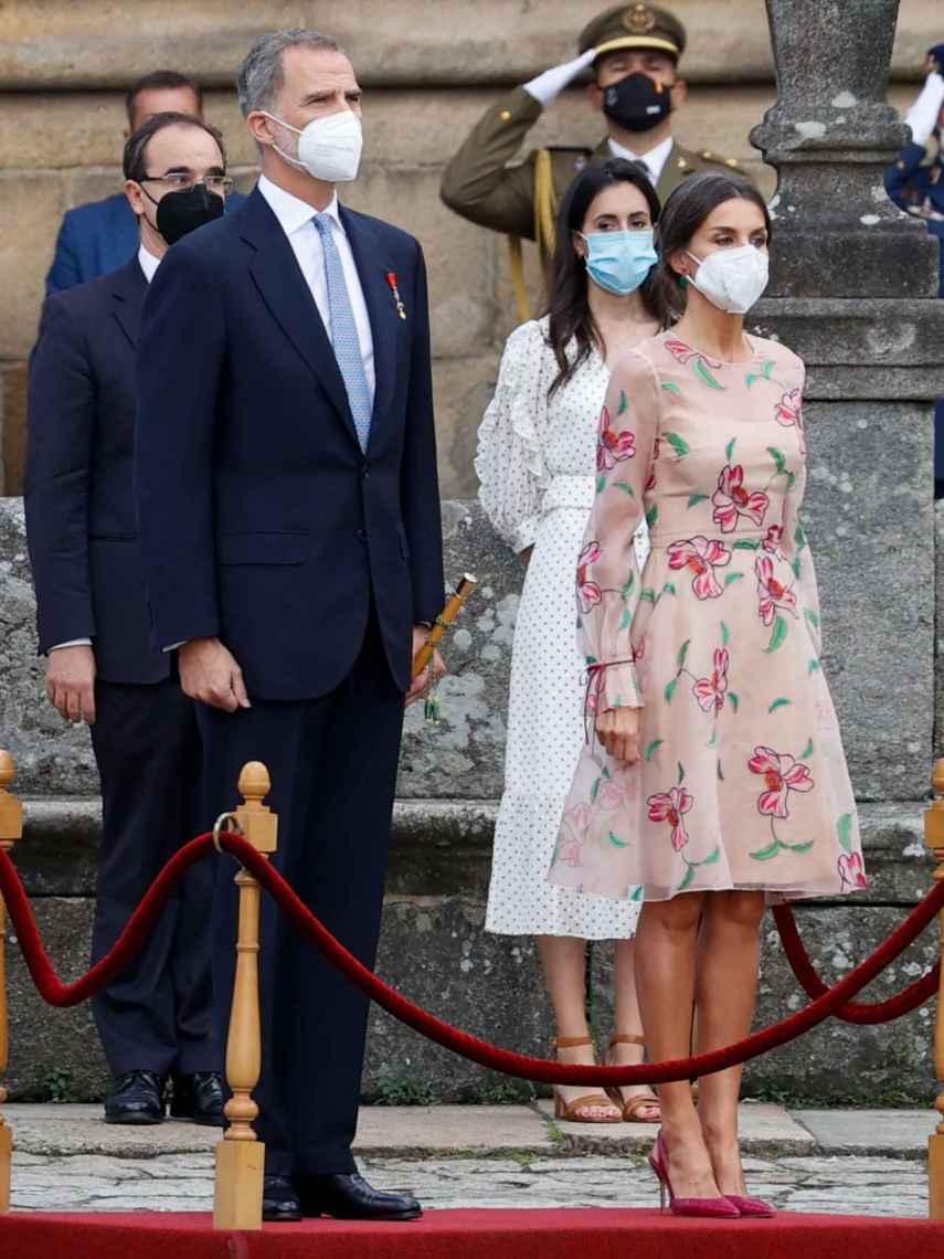 Letizia ha lucido el vestido que llevó en los Premios Princesa de Asturias 2017.