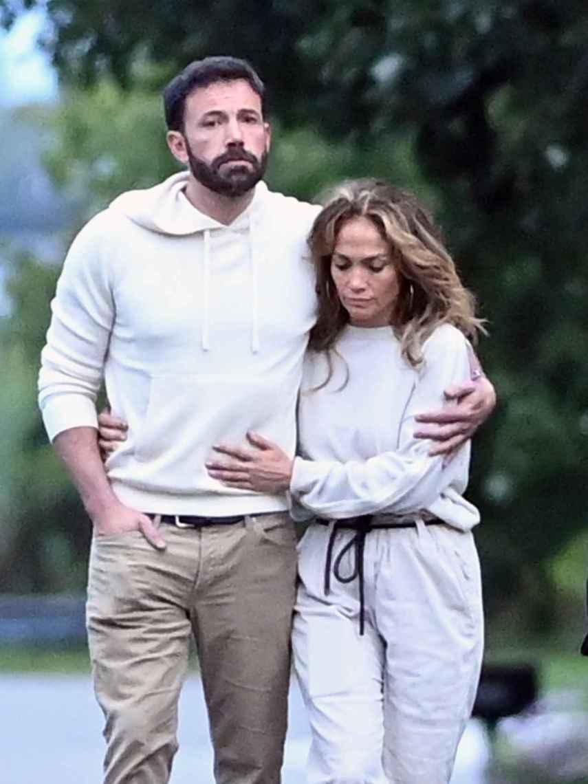 Ben Affleck y Jennifer Lopez, en una imagen captada a comienzos de julio.