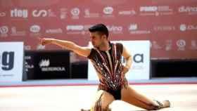El gimnasta español Cristofer Benítez durante una competición