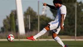 Marcelo, durante un partido amistoso frente al Rayo Vallecano
