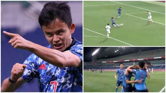 Take Kubo marca otro gol en los Juegos Olímpicos