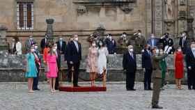 Los reyes en la ofrenda al Apóstol Santiago, en la Catedral de Santiago.