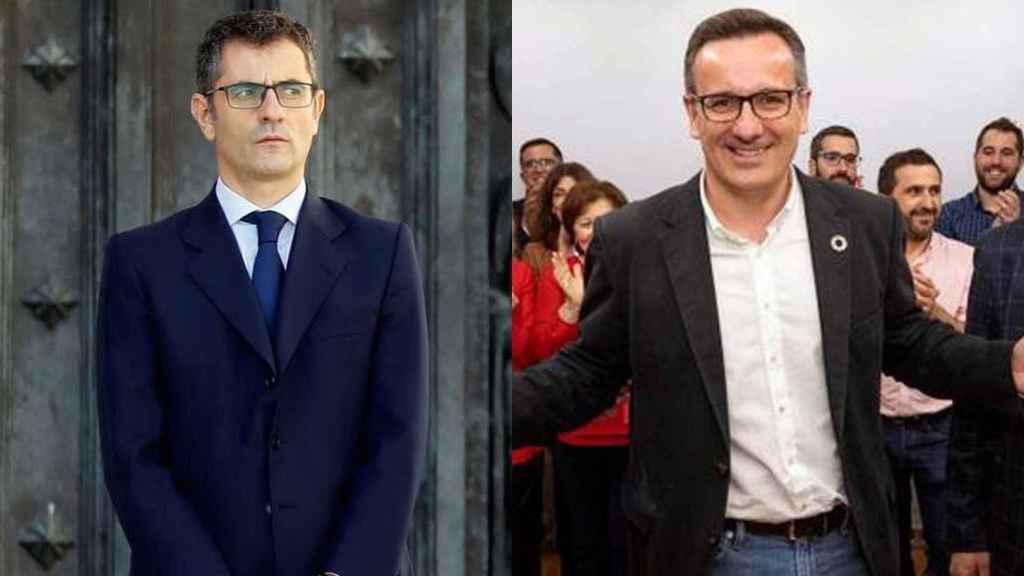 Los socialistas Félix Bolaños y Diego Conesa.