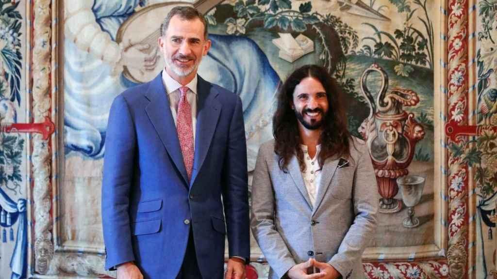 Baltasar Picornell en calidad de presidente del Parlamento de Baleares con el Rey en 2018.