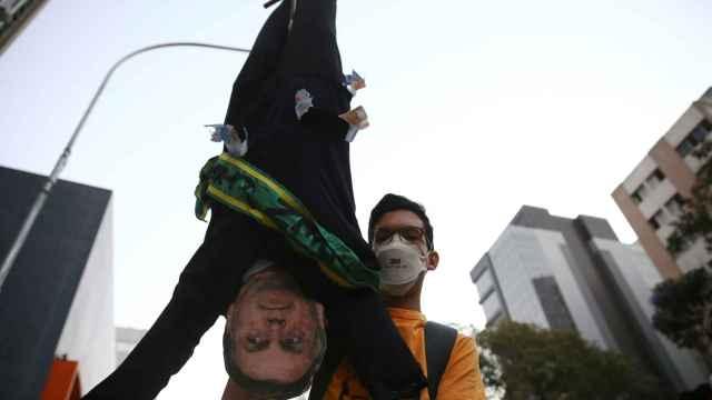 Protestas para exigir la destitución de Bolsonaro.