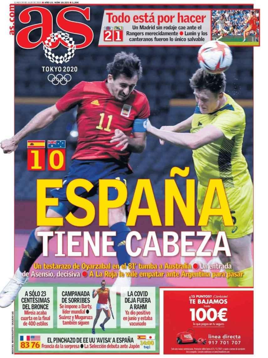 La portada del diario AS (26/07/2021)