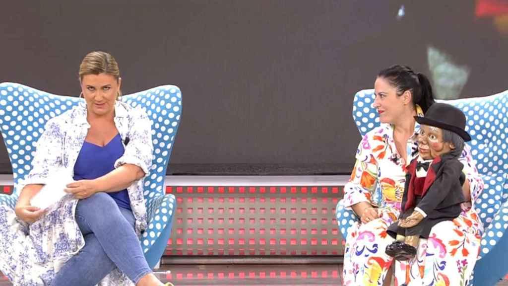 Carlota Corredera y Victoria Braojos en 'Sálvame'
