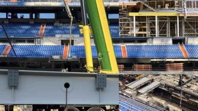 Importantes avances en el césped retráctil del Santiago Bernabéu: el Real Madrid acelera las obras
