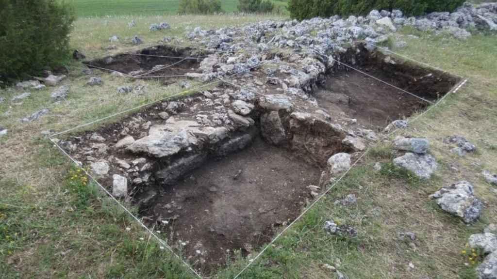 Excavación arqueológica en el Castro de la Hoya del Villar, ubicado en Villanueva de Alarcón (Guadalajara)