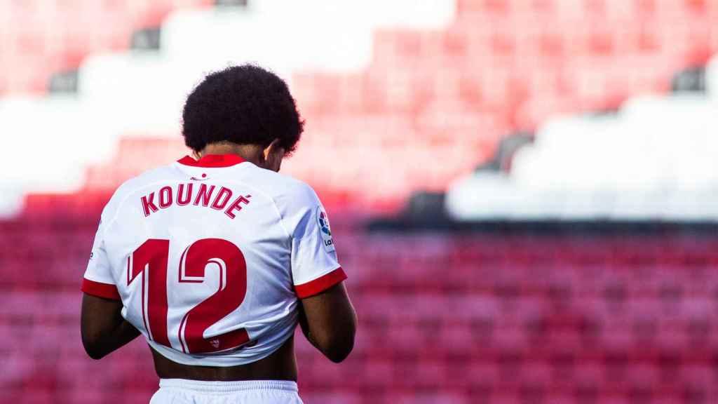 Jules Kounde, durante un partido con el Sevilla CF