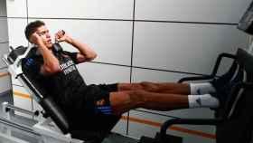 Raphael Varane, en un entrenamiento con el Real Madrid
